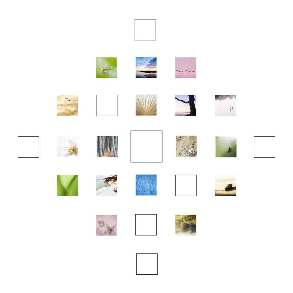 Unschuld ist mein Quadrat zum 16. Dezember. Und wie alle Quadrate auf mdf kaschiert und in 10 x 10 cm erhältlich.