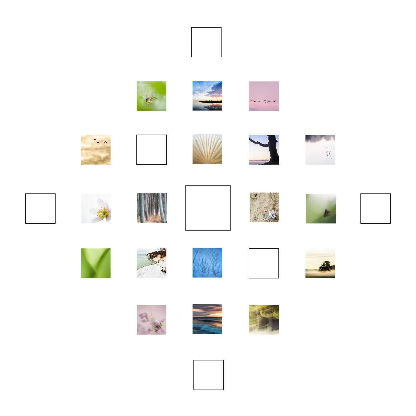 Farbrausch ist mein Quadrat zum 17. Dezember. Und wie viele Quadrate auf mdf kaschiert und in 10 x 10 cm / 15 x 15 cm erhältlich.