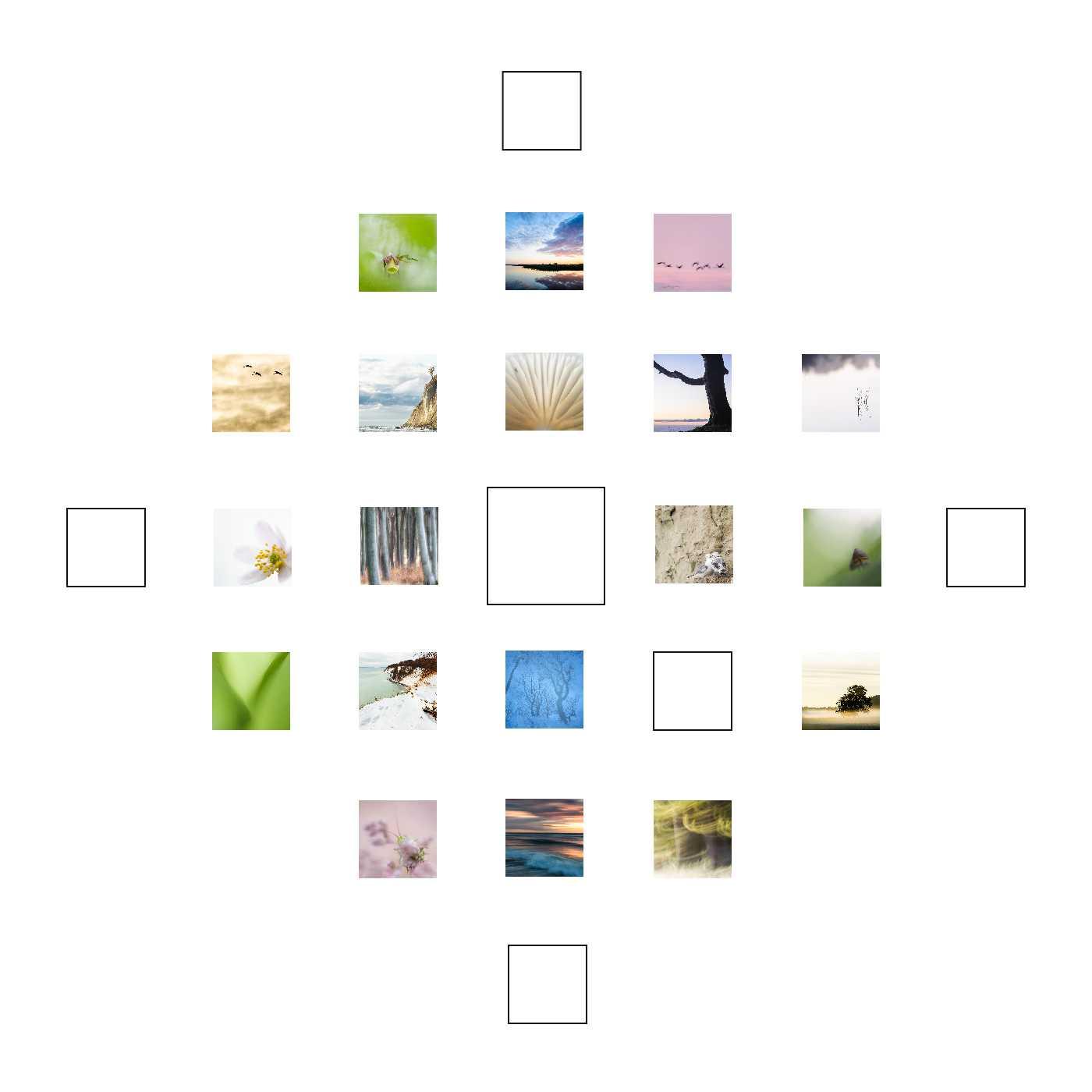 Aussicht ist mein Quadrat zum 18. Dezember. Und wie viele Quadrate auf mdf kaschiert und in 10 x 10 cm / 15 x 15 cm erhältlich.