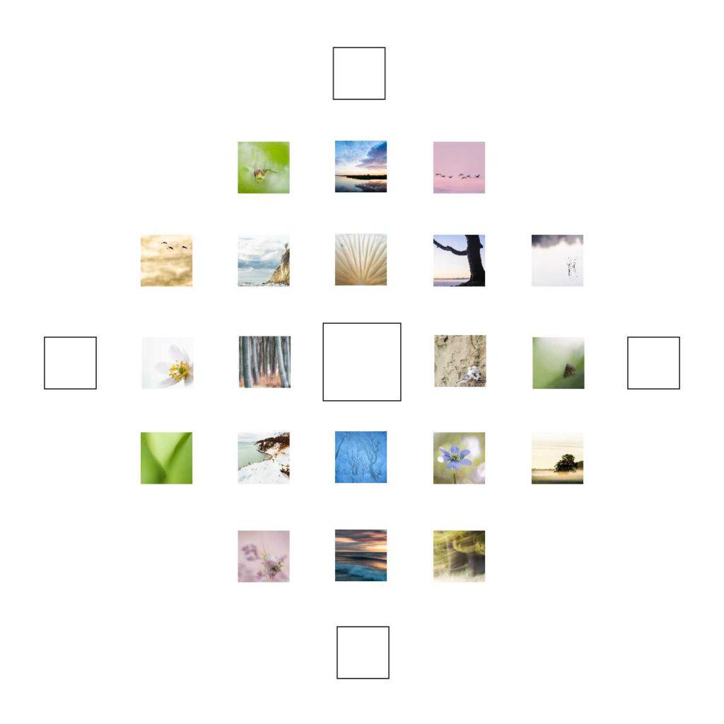 Frühlingserwachen ist mein Quadrat zum 19. Dezember. Und wie viele Quadrate auf mdf kaschiert und in 10 x 10 cm erhältlich.