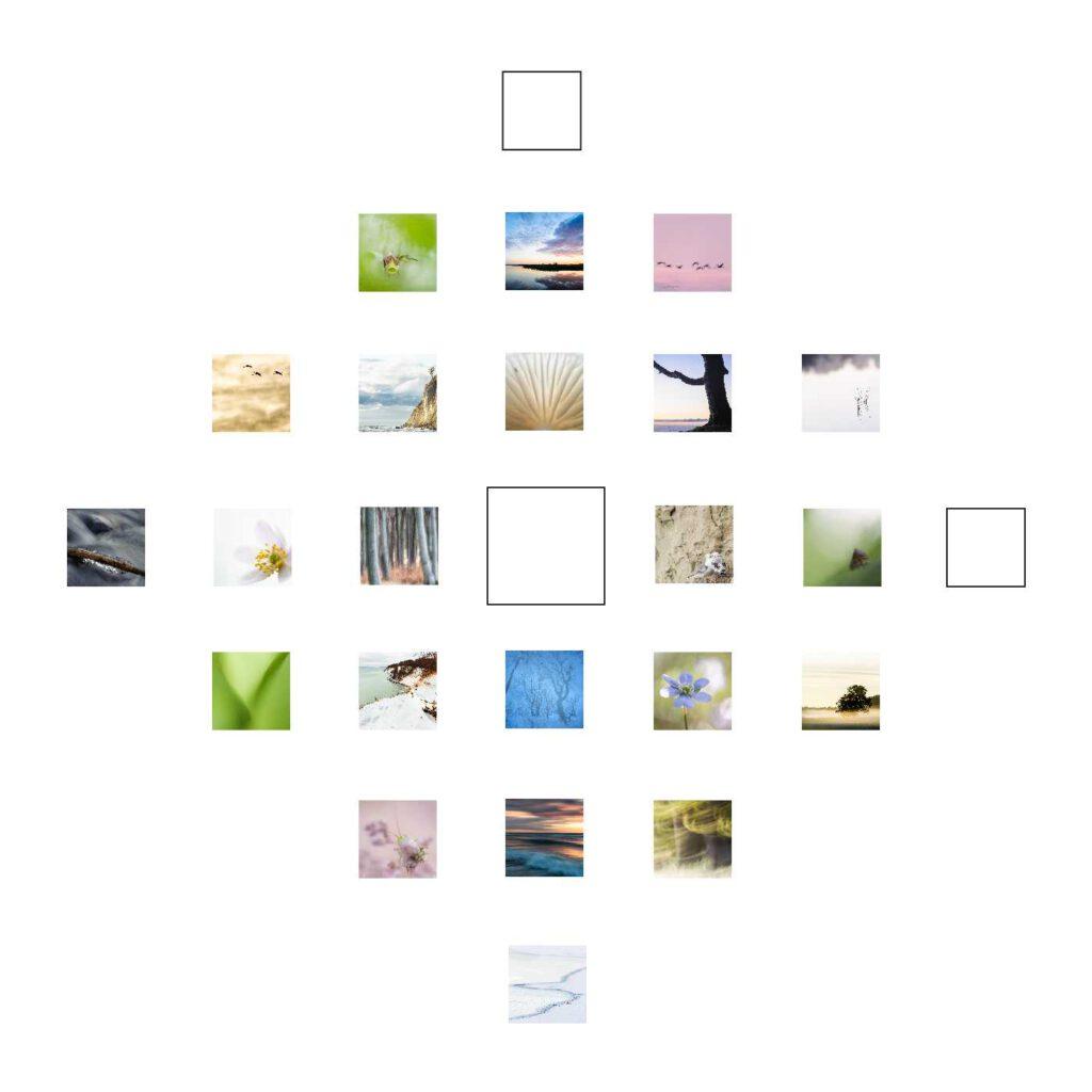 Sehnsucht ist mein Quadrat zum 21. Dezember. Und wie viele Quadrate auf mdf kaschiert und in 10 x 10 cm erhältlich.
