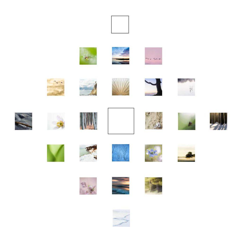 Schattenbrüder ist mein Quadrat zum 22. Dezember. Und wie viele Quadrate auf mdf kaschiert und in 10 x 10 cm erhältlich.