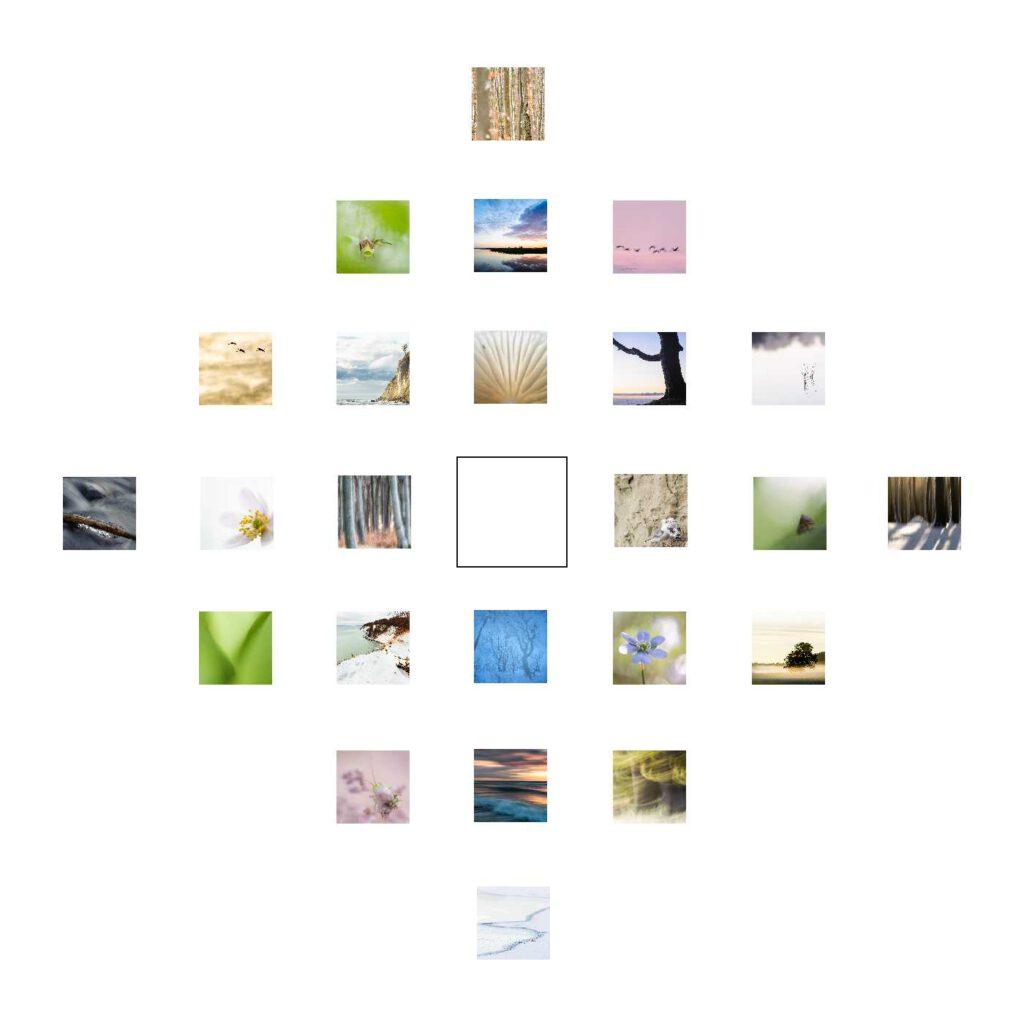 Wintertraum ist mein Quadrat zum 22. Dezember. Und wie viele Quadrate auf mdf kaschiert und in 10 x 10 cm erhältlich.